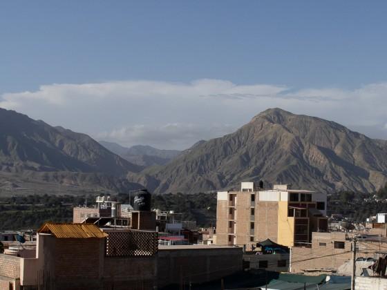 Peru hat mich wieder: Moquegua vom Hotel aus gesehen