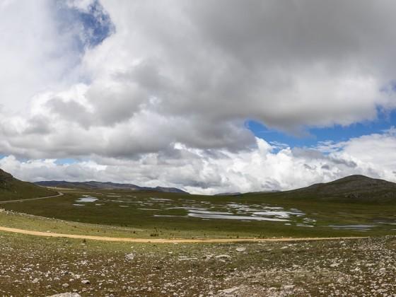 Anfang der Hochebene, Blickrichtung Tarma. Ca. 4000 m Höhe